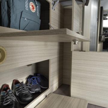 Van Adria Twin Plus shranjevalni prostor